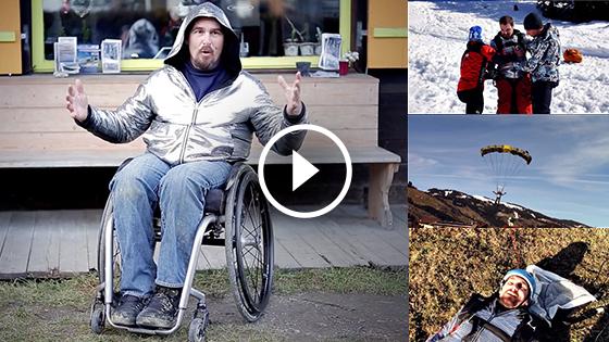 Disco Wheelchair BASE Jumping Video