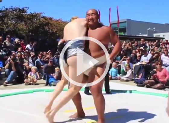 VIDEO: Bravest Model Citizen: Tyler MacNiven, Amateaur Sumo Wrestler