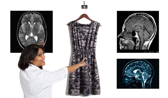 Brain-Scan Dress