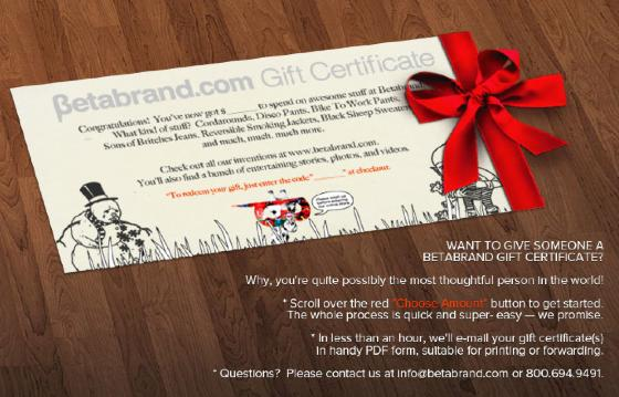 Betabrand Gift Certificates
