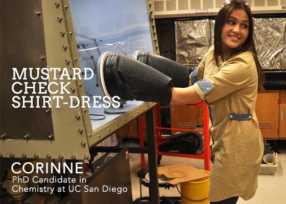Mustard Check Shirt-Dress