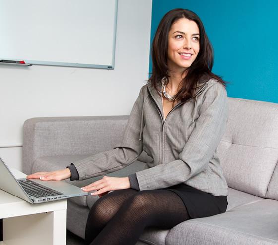 The New Women's Glen Plaid Executive Hoodie