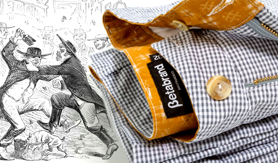 Gray Gingham Seersucker Pants