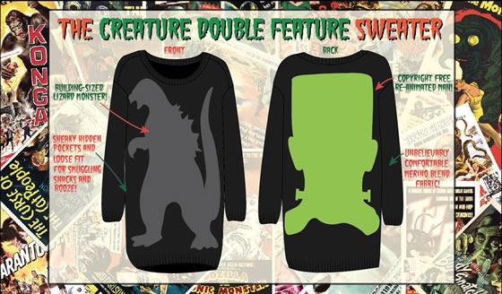 Women's Creature Double-Feature Sweater