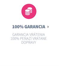 100% spokojnosť alebo 100% vrátenie peňazí!