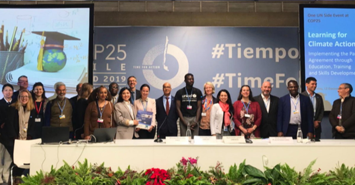 UN CC:LEARN HIGHLIGHTS THE IMPORTANCE OF CLIMATE CHANGE EDUCATION AT COP25