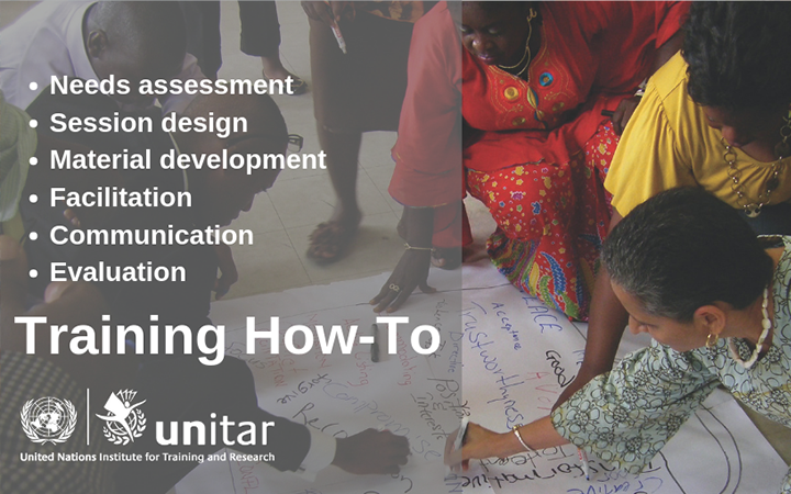 UNITAR RELEASE ITS TRAINING FACILITATION GUIDE FOR PUBLIC ACCESS