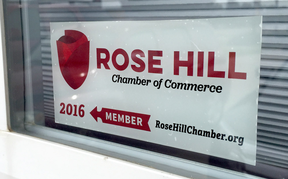 Rose Hill Chamber Cling