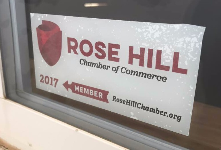 2016 Rose Hill Chamber Member Decal