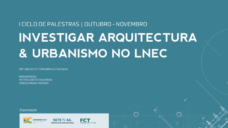 Investigar Arquitectura & Urbanismo no LNEC