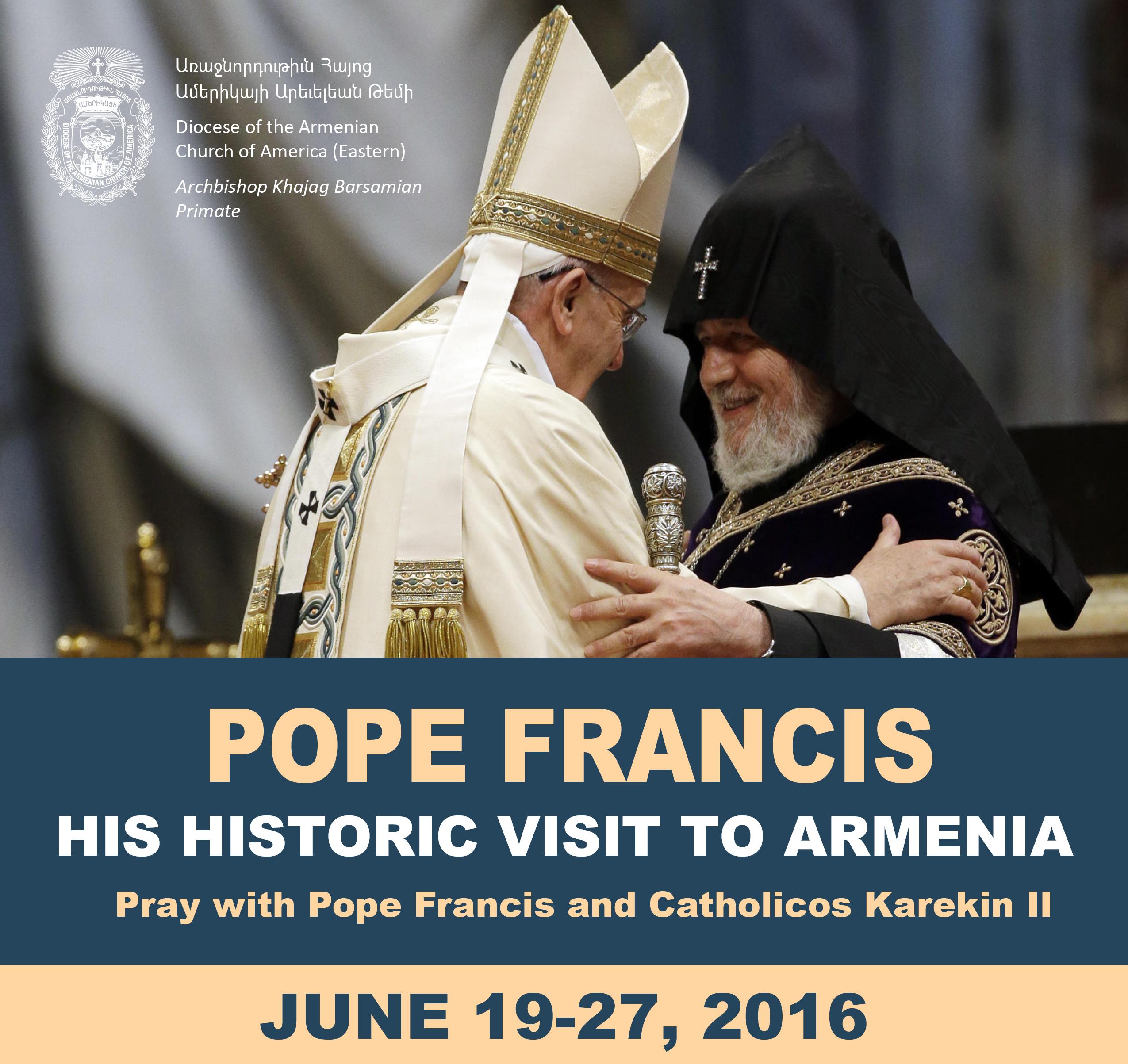Pope Francis to Visit Armenia