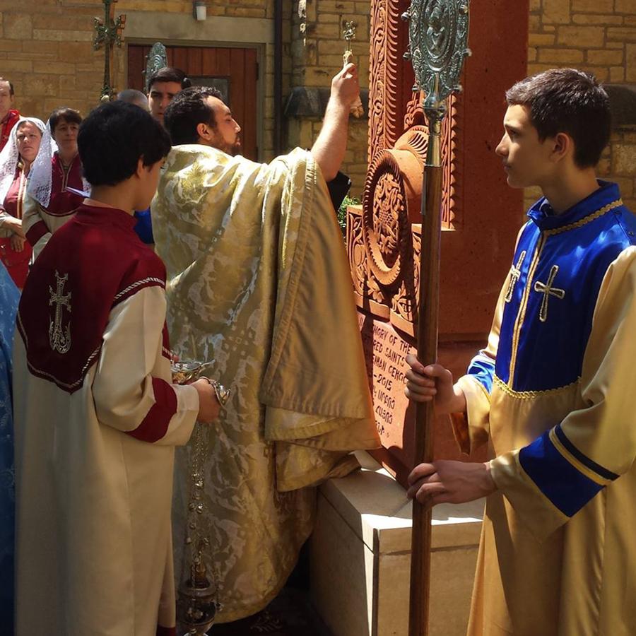 Blessing of an Armenian Khachkar in Minnesota