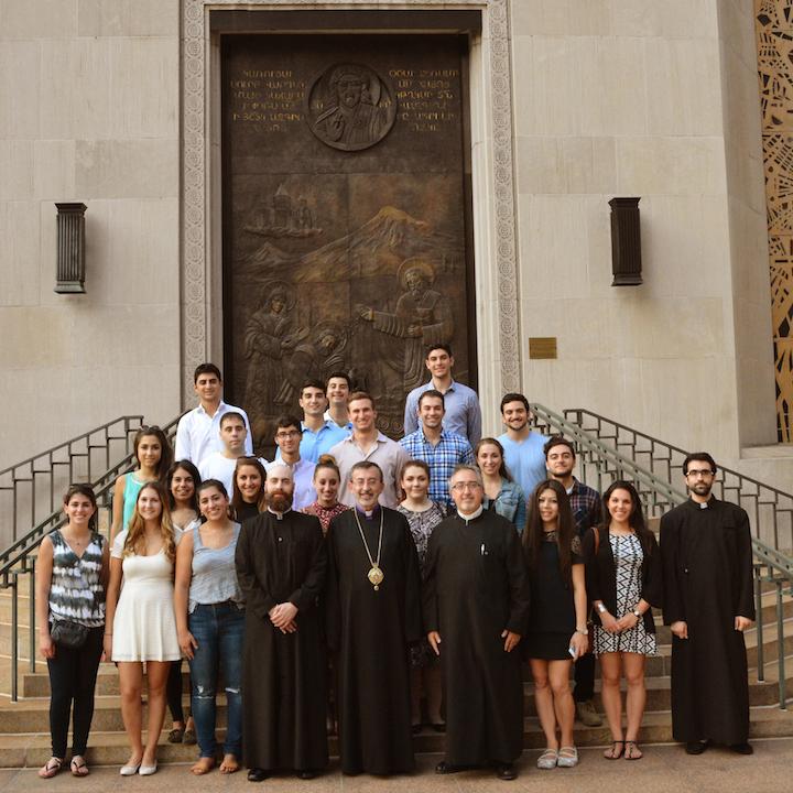 AGBU Interns visit Diocesan Center in NYC