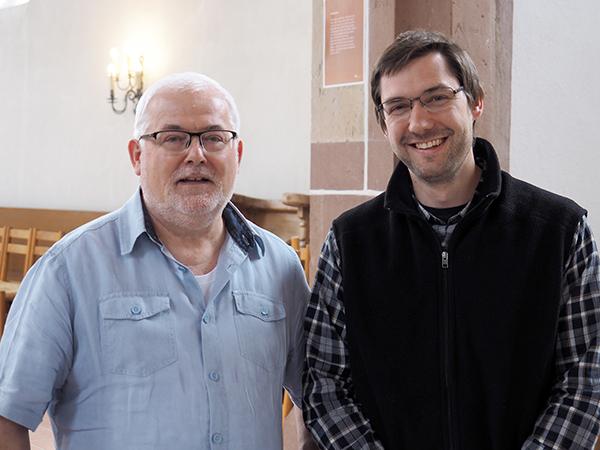Die tsc-Dozenten Eckhard Hagedorn und Daniel Gleich