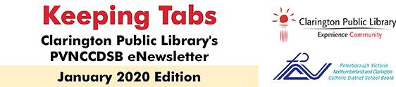 Clarington Public Library's PVNCCDSB eNewsletter Header.