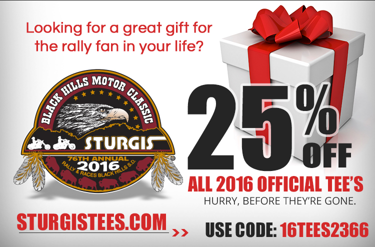 Looking for a great gift for the rally fan in your life? 25% off all 2016 official tee's. Hurry before they're gone. Use code: 16TEES2366