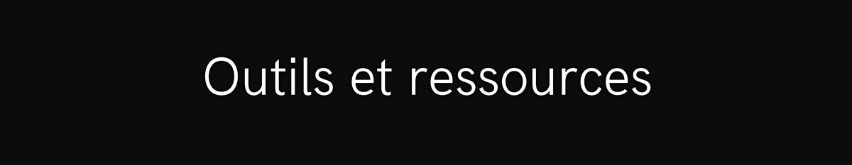 Une image de bannière qui porte la mention « Outils et ressources ».