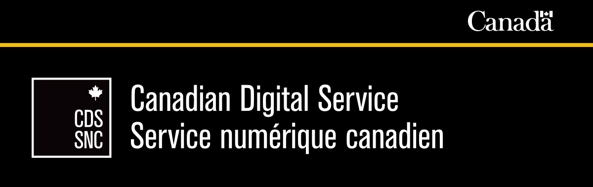 "Banner image that reads ""Canadian Digital Service""."