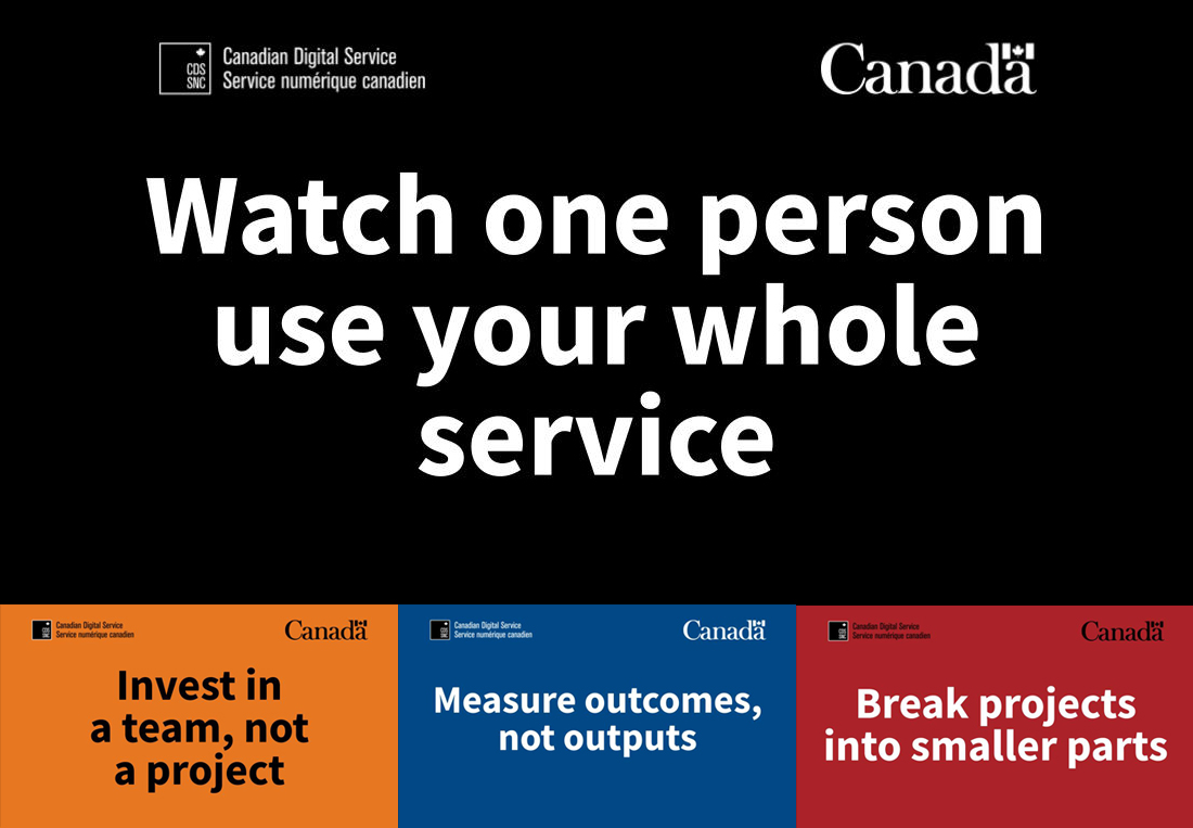 Watch one person use your whole service.