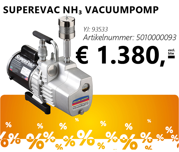 SuperEvac NH₃ vacuumpomp
