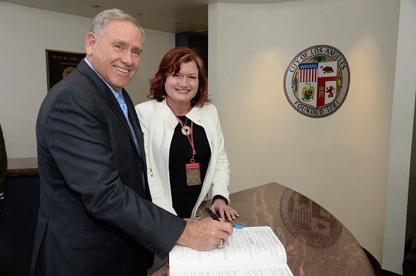 Councilmember Greig Smith officially takes office as Councilmember for the 12th Council District of the City of Los Angeles