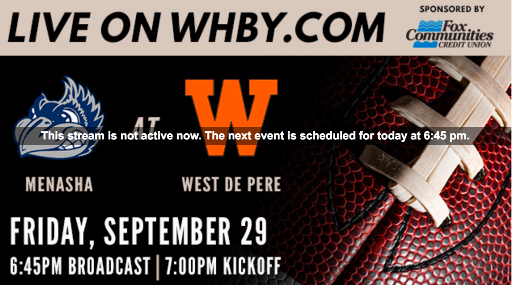 WHBY live streaming for high school sports in the area - Live stream 1