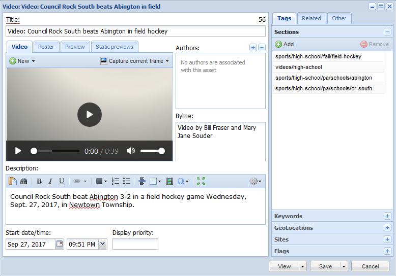 Field59 video as objects in BLOX CMS