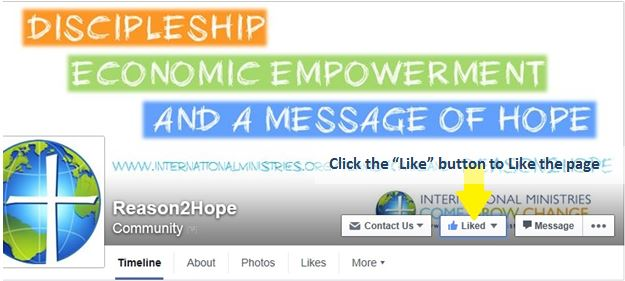 "Like the Facebook page by clicking the ""Like"" button at the top of the Reason2Hope page"