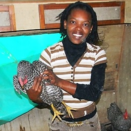 Thandi was successfully trained in poultry farming