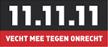 11.11.11 vecht mee tegen onrecht