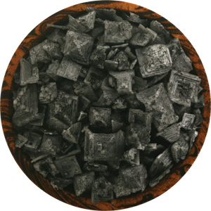 Cyprus Black Lava pyramid salt