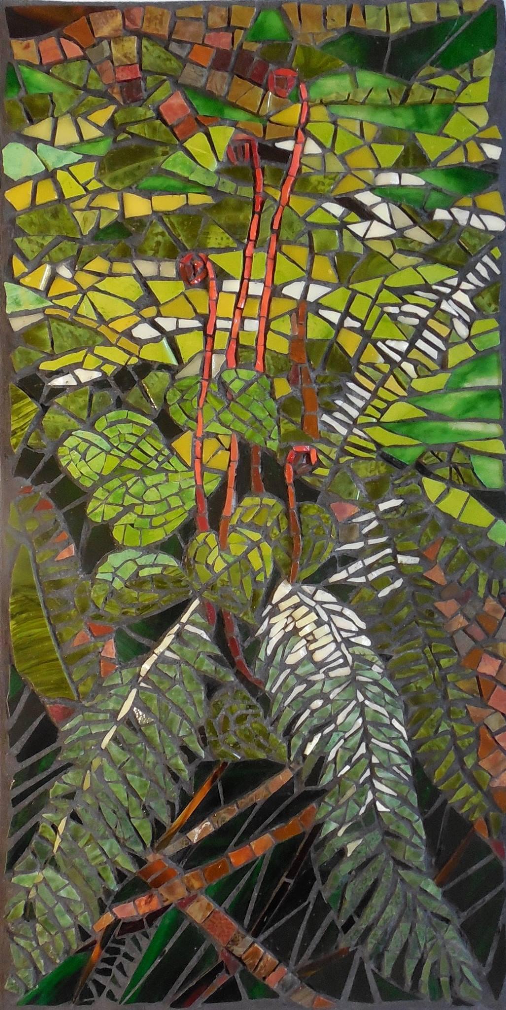 peach mosaic by Joanne Daschel