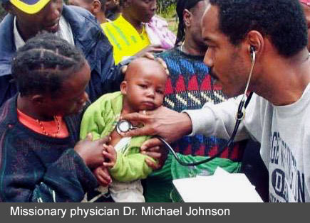 Missionary physician Dr. Michael Johnson