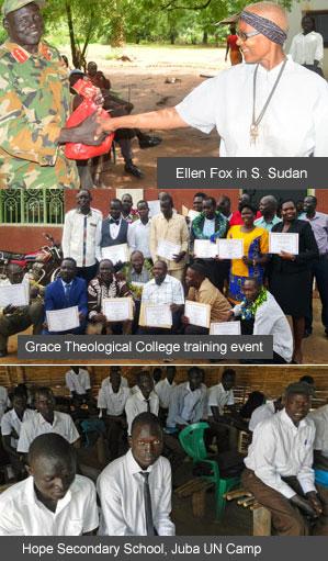 Ellen Fox, S.Sudan - Grace Theological College event - Hope Secondary School