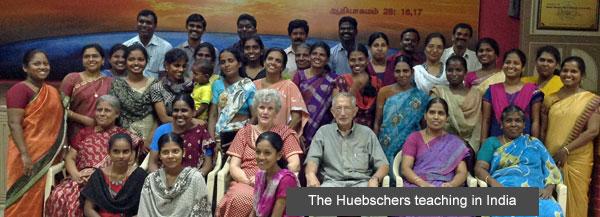 The Huebschers teaching in India