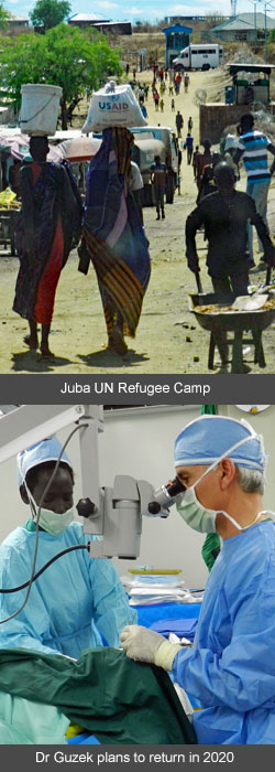 Juba UN Camp -- Dr Guzek plans to return in 2020