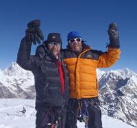 Calum & Mike on Mera PEak Summit