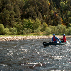 Canoeing the River Spey