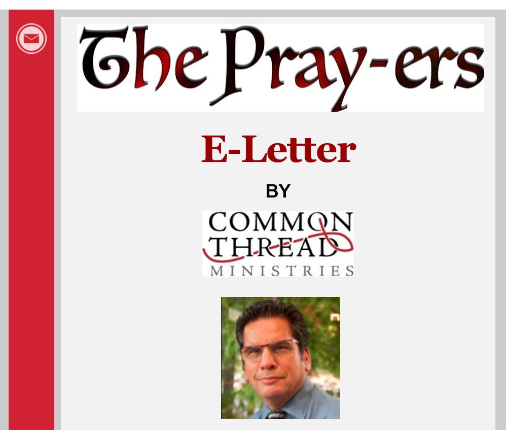 The Pray-ers E-Letter Masthead