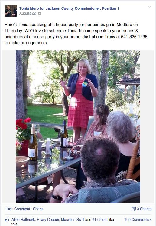 Tonia Moro Facebook Post