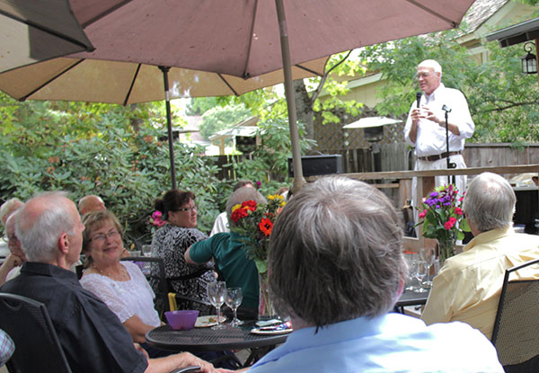 Senator Bates at Last Year's Wine in the Garden