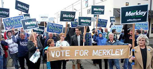 Sen Merkley Rally