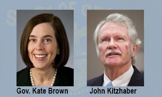 Gov. Kate Brown and John Kitzhaber