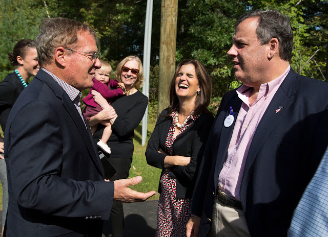 Peter Sage and N.J. Gov. Chris Christie