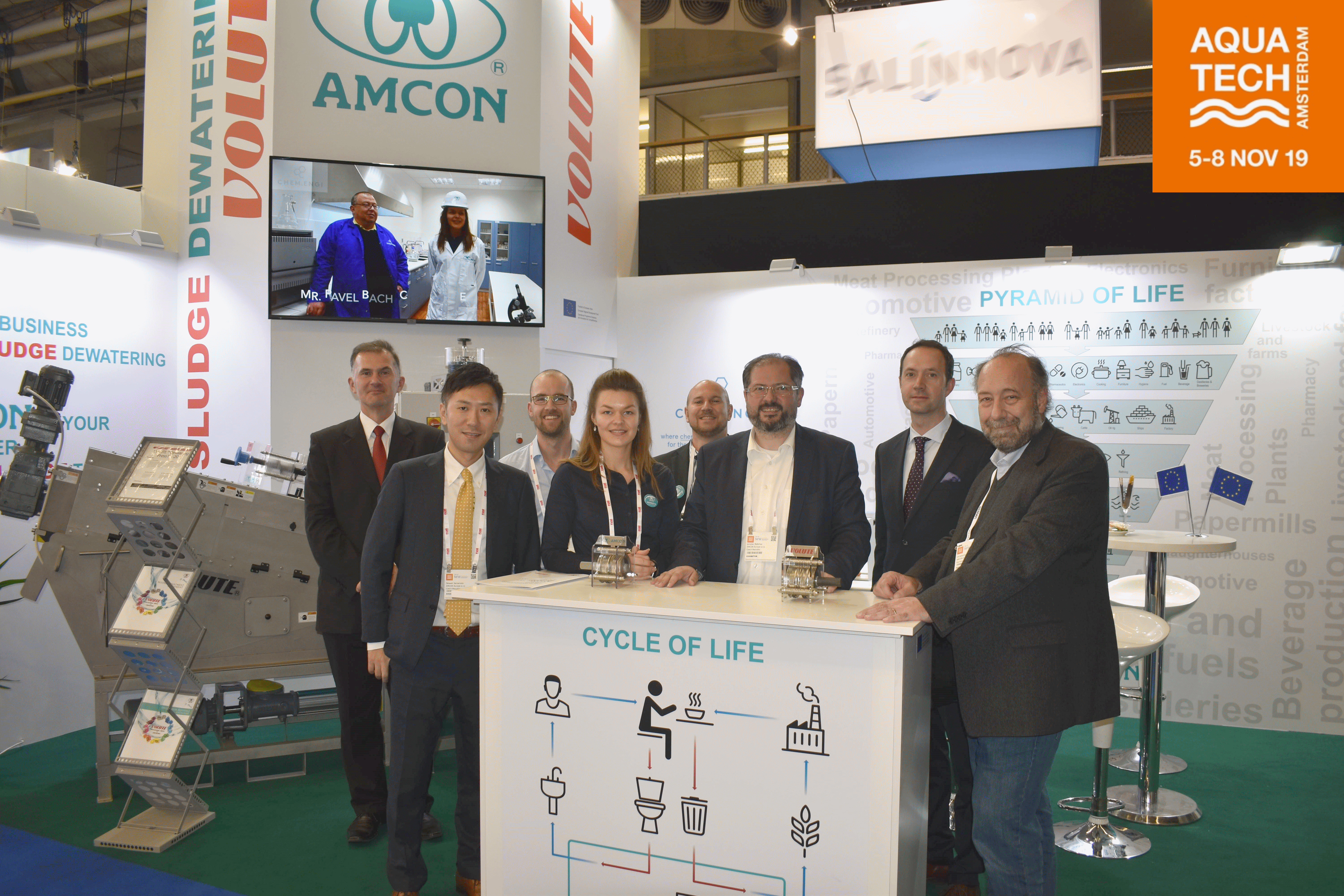 AMCON Team at Aquatech 2019.