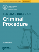 Federal Rules of Criminal Procedure