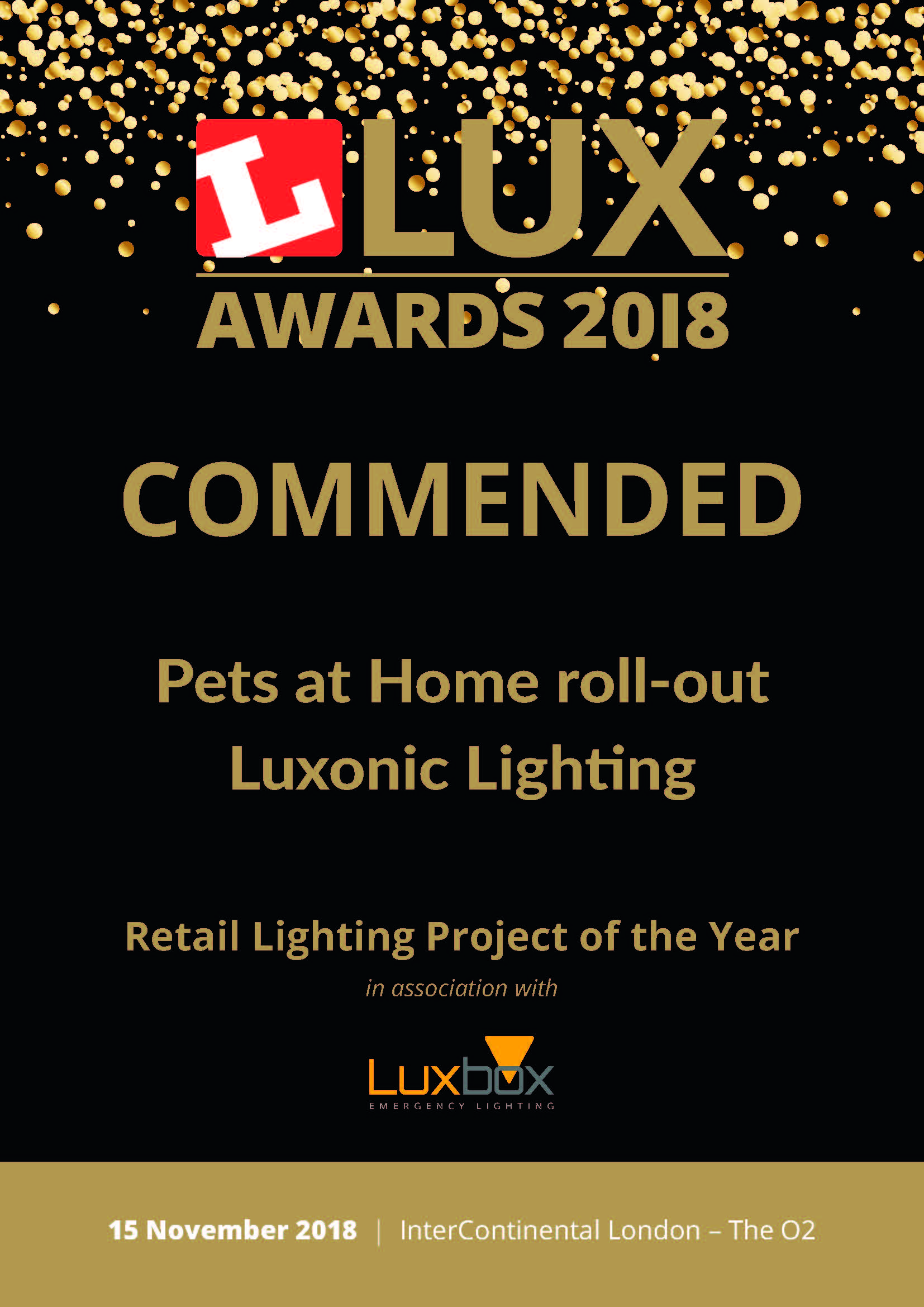 Lux Awards Commendation for Hi-Max