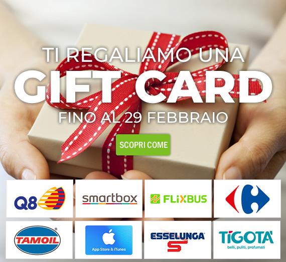 Ti regaliamo una gift card