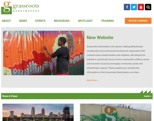 Grassroots Grantmakers Website Preview