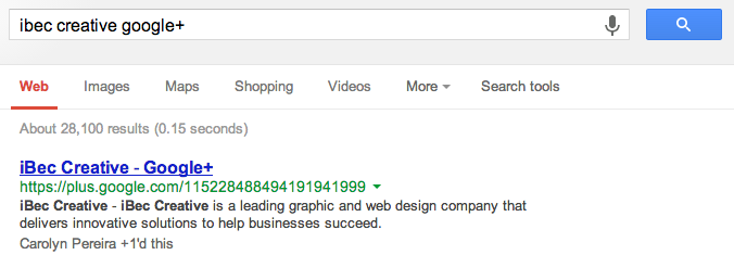 How to search for your google plus page